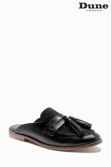 Dune Black Leather Slip-On Loafer
