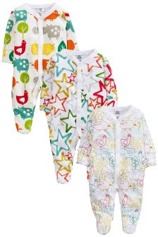Bright Bright Farm Sleepsuits 3 Pack (0mths-2yrs)