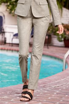 Neutral Cotton Trousers