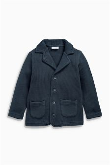 Navy Knit Look Jacket (0mths-2yrs)