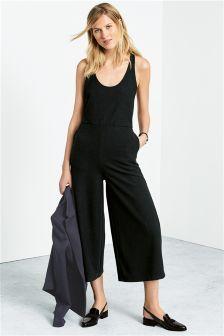 Black Culotte Jumpsuit