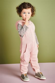 Pink Hooded All-In-One (12mths-6yrs)