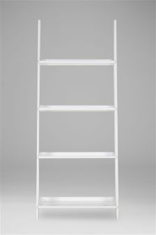 Compton White Wall Leaning Shelves