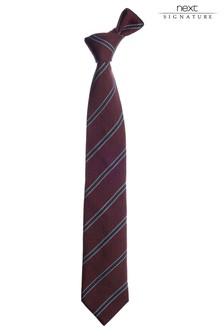 Red Signature Italian Silk Striped Tie