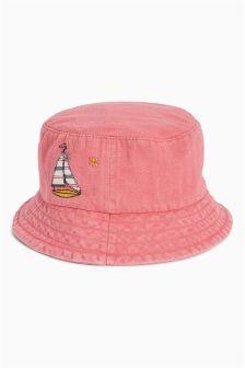 Fisherman Appliqué Hat (Younger Girls)