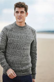Textured Turtle Neck