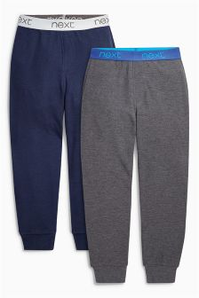 Blue/Grey Waffle Joggers Two Pack (3-16yrs)