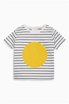 Ecru Stripe/Circle T-Shirt (0mths-2yrs)
