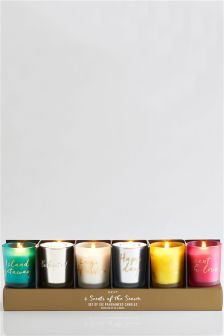 Set Of 6 Summer Fragranced Candle
