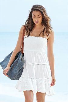 White Pull-On Dress