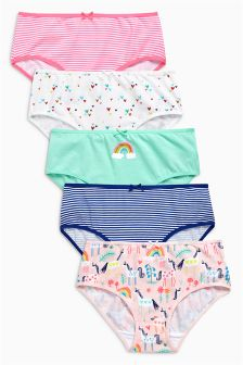 Multi Bright Unicorn Briefs Five Pack (1.5-12yrs)