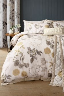 Cotton Sateen Wild Hedgerow Natural Bed Set