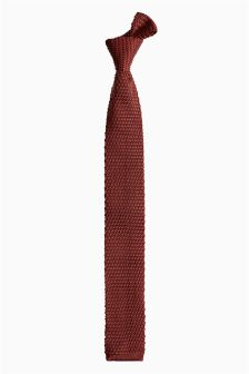 Rust Knitted Tie