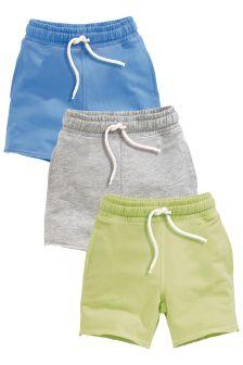 Green/Blue/Grey Shorts Three Pack (3mths-6yrs)