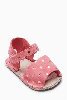 Pram Peep Toe Sandals (Younger Girls)