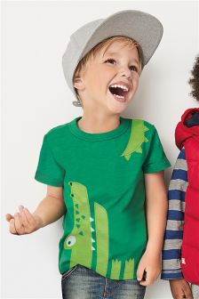 Green Short Sleeve Crocodile T-Shirt (3mths-6yrs)