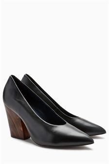 Point Leather Court Shoes