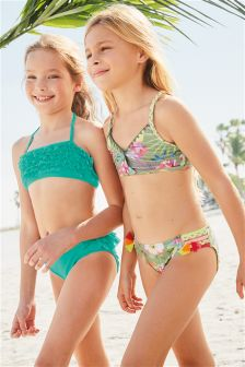 Khaki Floral Bikini (3-16yrs)