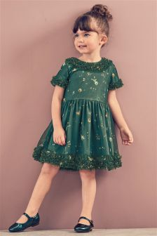 Green Party Dress (3mths-6yrs)