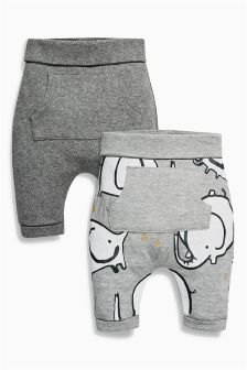 Grey Elephant Joggers Two Pack (0mths-2yrs)