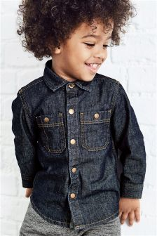 Denim Long Sleeve Shirt (3mths-6yrs)