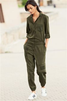 Khaki Patch Jumpsuit