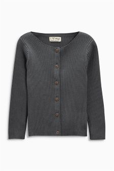 Charcoal Rib Cardigan (3mths-6yrs)