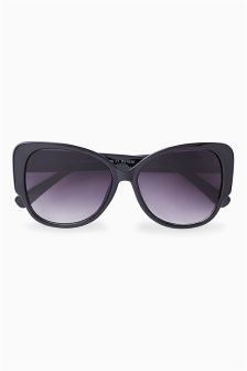 Black Butterfly Square Back Sunglasses