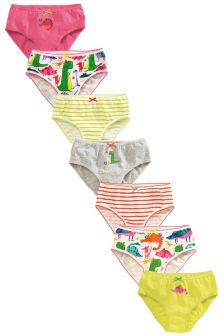 Multi Dinosaur Briefs Seven Pack (1.5-12yrs)