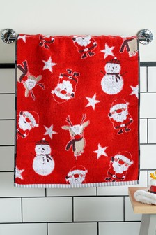 Ecru Hot Air Balloon Pattern Scarf