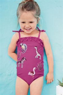 Plum Embroidered Swimsuit (3mths-6yrs)