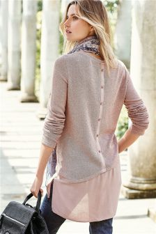 Longline Scarf Layer Top