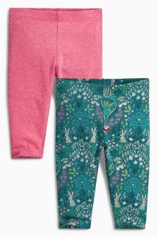 Teal Leggings Two Pack (0mths-2yrs)