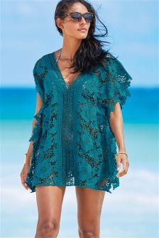 Teal Lace Cover-Up