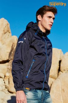 Navy Superdry Windbreaker Cagoule Jacket