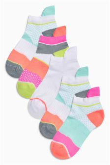 Pink Trainer Sock Five Pack (Older Girls)