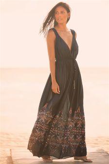 Black Signature Persian Maxi Dress
