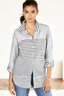 Grey/Ecru Stripe Shirt