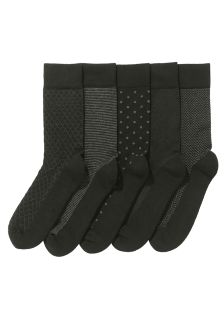 Black Pattern Comfort Socks Five Pack