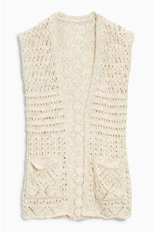 Cream Knitted Waistcoat (3-16yrs)
