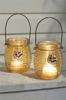 Set Of 2 Honeypot Lanterns