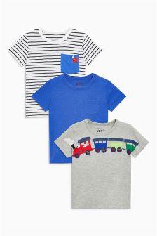 Три футболки с коротким рукавом (3 мес.-6 лет)