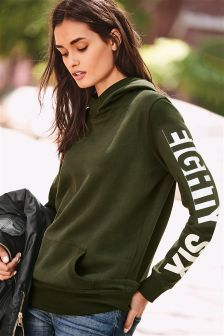 Green Overhead Graphic Hoody