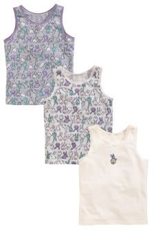 Pink/Lilac Bunny Vests Three Pack (1.5-12yrs)