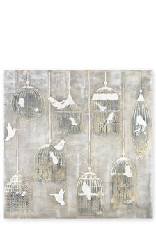 Moulded Bird Cage 3D Canvas