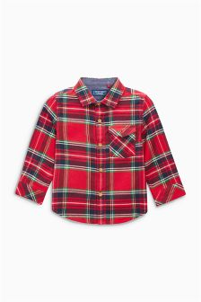 Red Tartan Check Shirt (3mths-6yrs)