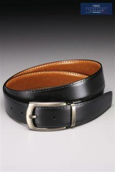 Tan Signature Reversible Leather Belt