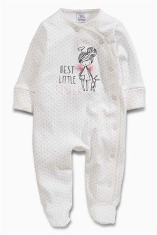 Cream/Pink Sister Fairy Sleepsuit (0-18mths)