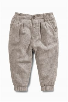 Grey Herringbone Volume Chinos (3mths-6yrs)