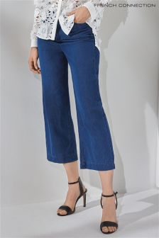 French Connection Wisteria Blue Longline Culottes